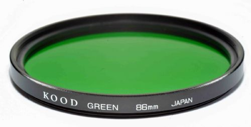 Kood High Quality Optical Glass Green Filter Made in Japan 86mm
